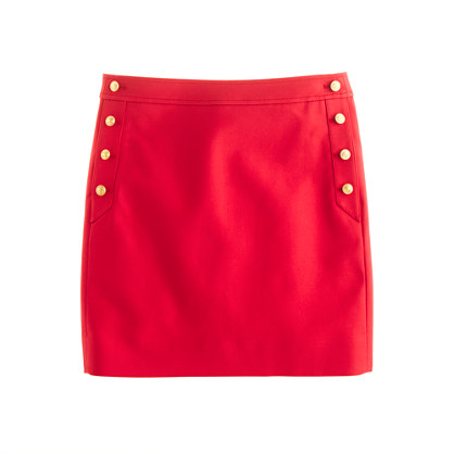 Jcrew Red Mini Skirt