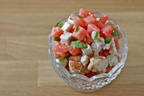 Shrimp Watermelon Feta