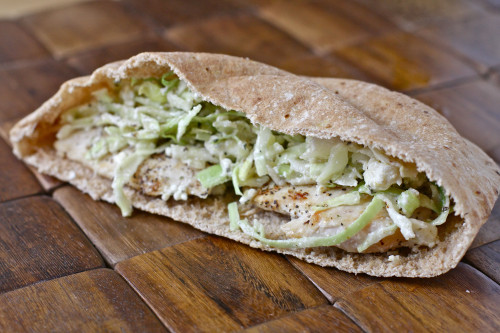 Chicken Slaw Pita
