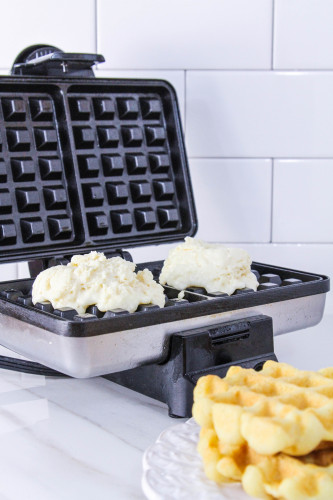Homemade Waffles with Waffle Maker