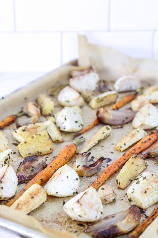 Roasted Root Vegetables with Chives